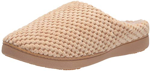 isotoner Women's Textured Microterry Low Back Slippers with Memory Foam