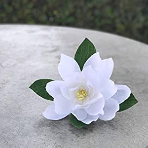 Crepe Paper Magnolia Flower - Choose from 5 and 7 inch - Many Colors to Choose 6