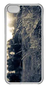 LJF phone case Customized ipod touch 5 PC Transparent Case - Summer Field Black And White Personalized Cover