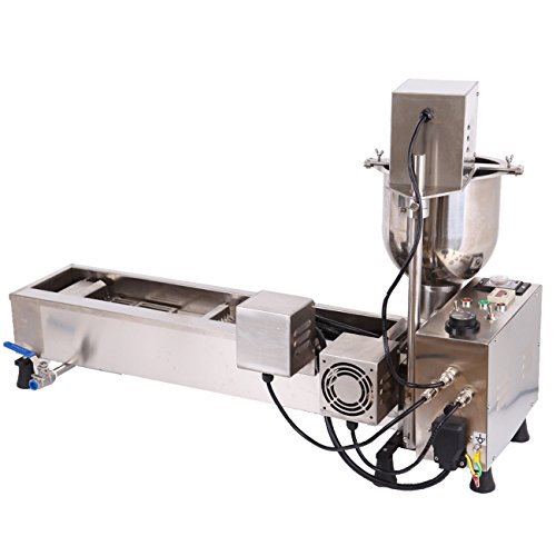 Ridgeyard Stainless Steel Commercial Donut Maker 3KW Automatic Donut Maker 7L Donut Making Machine with 3 Sets Mold ,Wide Oil Tank by Ridgeyard (Image #3)