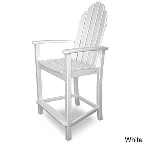 Adirondack Counter Chair (POLYWOOD ADD201WH Classic Adirondack Counter Chair, White)