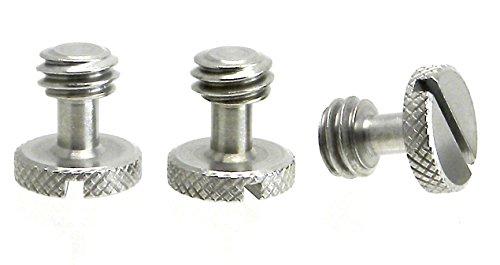 "Steel Screws 3/8"" Tripod Quick Release QR Plate Camera Flath"