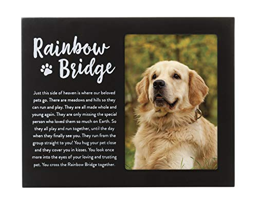 Bridge Dogs Rainbow - Rainbow bridge pet Memorial Frame, Black