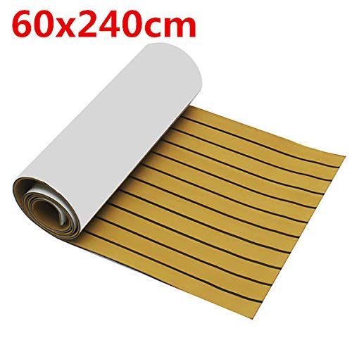Anddoa EVA Foam Deep Yellow with Black Strip Boat Flooring Faux Teak Decking Sheet Pad - #001 by Anddoa (Image #8)