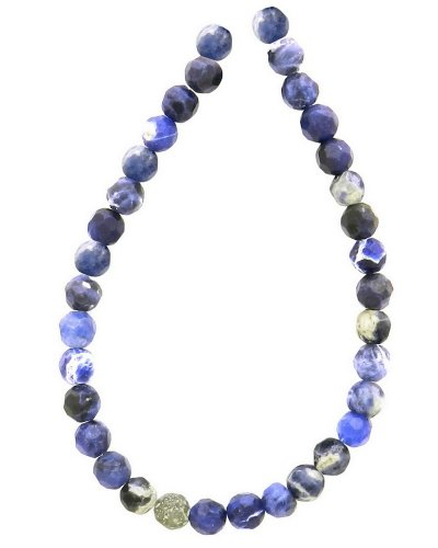 Sodalite 6mm Round Beads (Tennessee Crafts 1001 Semi Precious Blue African Sodalite Faceted Beads, Round,)