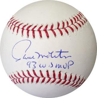 Paul Molitor Autographed Baseball - Paul Molitor Signed Ball - Official Major League 93 WS MVP Brewers) - Autographed Baseballs