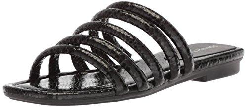 Donald J Pliner Women's Kip Slide Sandal, Black, 9 Medium US
