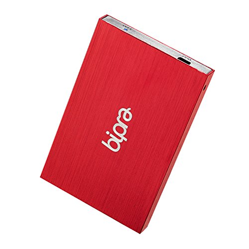 Bipra 640Gb 640 Gb 2.5 Inch External Hard Drive Portable Usb 2.0 - Red - Fat32 (640Gb)