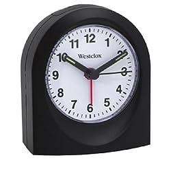 Westclox 47312 Quartz Alarm Clock Black Case,
