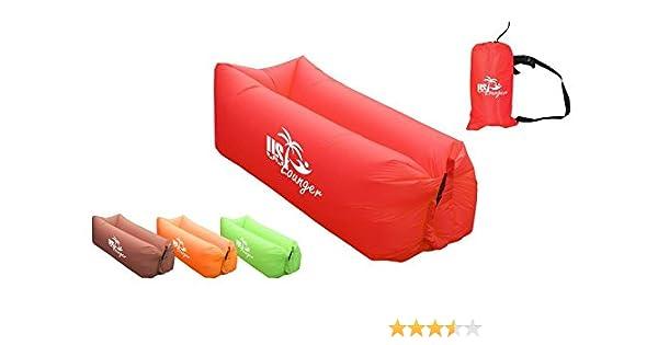 Nos tumbona rápido hinchable portátil viento en interiores o exteriores cama tumbona, bolsa de aire sofá, sofá sofá de dormir, Lazy cama de aire para ...