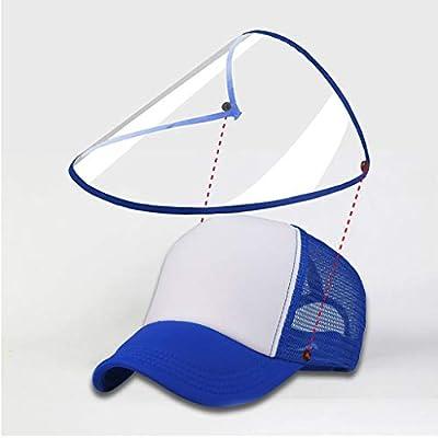 Full Face Visor Hat,Unisex Detachable Baseball Cap Eye Protective Adjustable Hat Anti-Saliva Anti-Spitting Outdoor Sun: Kitchen & Dining