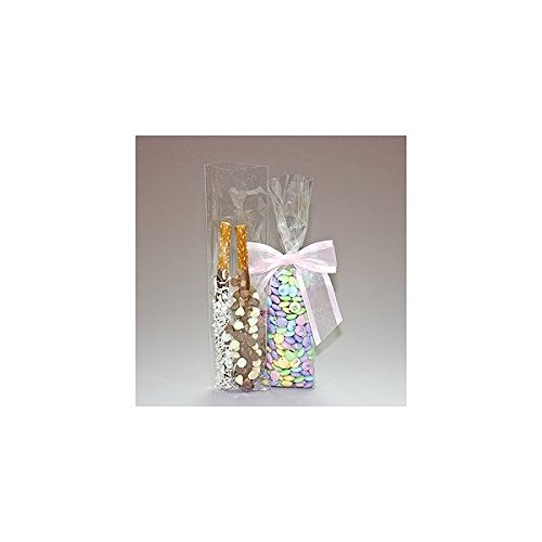 100 Bag Set - Top Quality 3 Inch x 11 Inch Cello Cellophane Bags - Acrylic Coated Crisp Crystal Clear 1.2 Mil nwcc311bclear