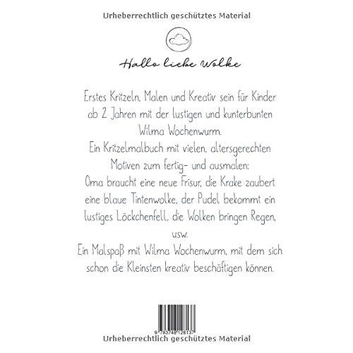 Kritzeln Und Malen Mit Wilma Wochenwurm Ein Kritzelmalbuch Ab 2