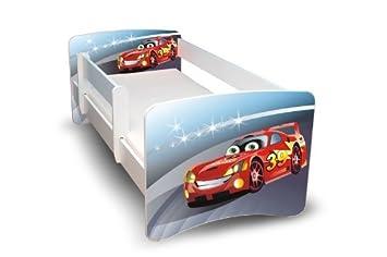 Kinderbett junge cars  BEST FOR KIDS KINDERBETT 70x160 MIT RAUSFALLSCHUTZ (**Kinder ...