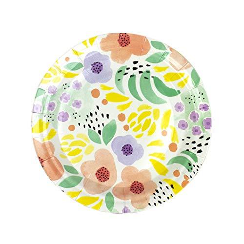 Elum Designs Spring Abstract Paper Plates - Elum Designs