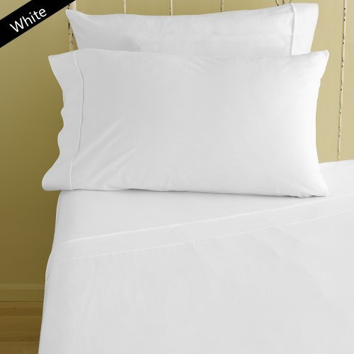 Both Pattern Solid/Stripe 1-Piece- Fitted- Sheet with 20-25 inches Extra Fit Deep Pocket 400 Thread Count 100% Pima Cotton Hotel Finish Adjustable Room (Twin XXL , Solid ,White).