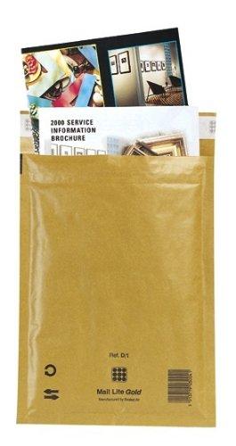 Mail Lite Gold sobres acolchados bolsas, tamaño J/6, oro ...