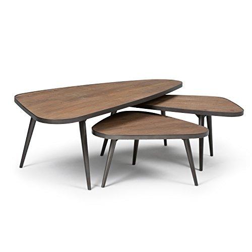 Distressed Coffee Table Sets: Amazon.com: Simpli Home AXCABY-01 Aubrey 3 Pc Nesting