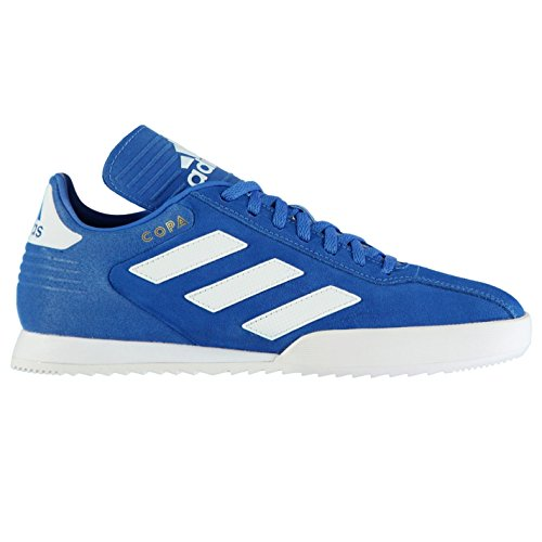adidas Mens Copa Super Suede Trainers Lace Up Padded Ankle Collar Textured Blue/White Tol3TSv9