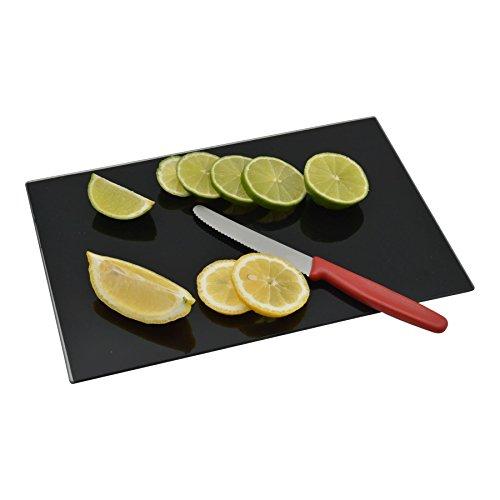 (Harbour Housewares Glass Kitchen Chopping Board - Black - (300mm x 200mm))
