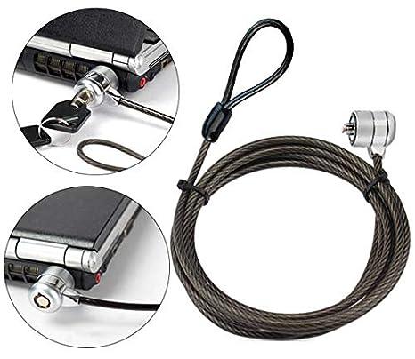 Cerradura de Seguridad para Ordenador portátil con Cerradura de Cable de Seguridad con Llave para Ordenador portátil de sobremesa portátil y Otros ...