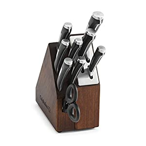 Calphalon 10 Piece Precision Space-Saving Self-Sharpening Cutlery Set, Maplewood