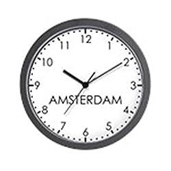 CafePress Amsterdam Modern Newsroom Unique Decorative 10 Wall Clock