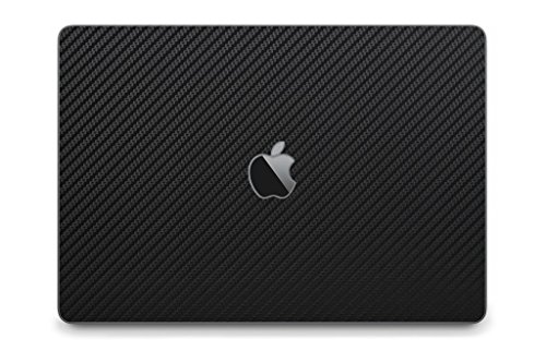 "iCarbons Black Carbon Fiber Skin Wrap for MacBook Pro 15"" (Late 2016-Current, With Touchbar) Full Combo"