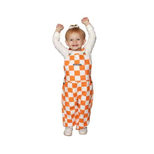 (Tennessee Volunteers Toddler Game Bibs Checkered Overalls:3T)