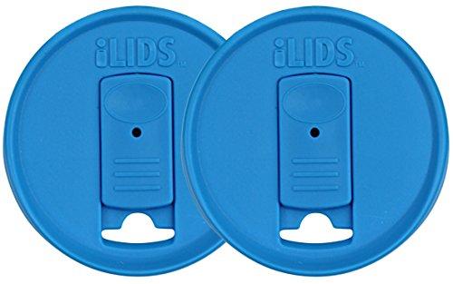 ILids Mason Jar Drink Lid, Wide Mouth, Sky Blue, 2-Pack