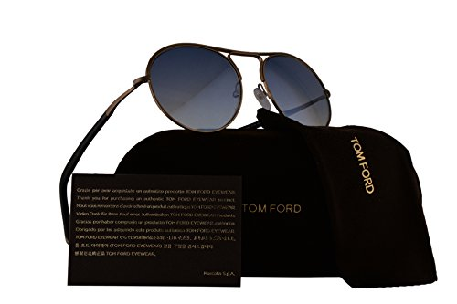 Tom Ford FT0449 Jessie Sunglasses Gold w/Blue Gradient Lens 37W TF449 by Tom Ford