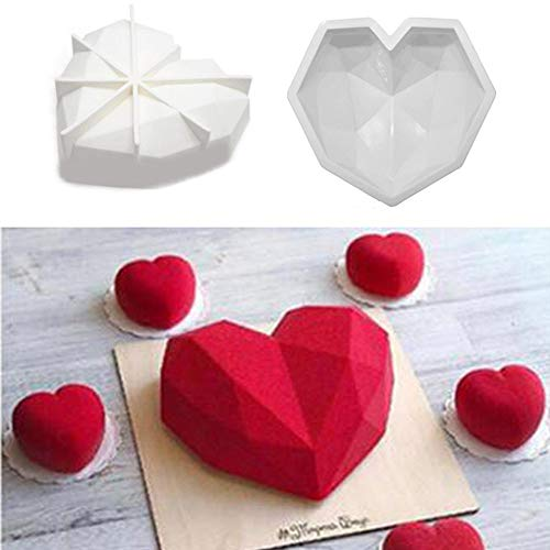 Float Pin - Diamond Love Silicone Molds Cake Decorating Baking Sponge Cakes Chiffon Mousse Dessert - Flowers Baby Graduation Creative Hollow Round Birthday Hearts Prime Oval Leaves Squirrel ()