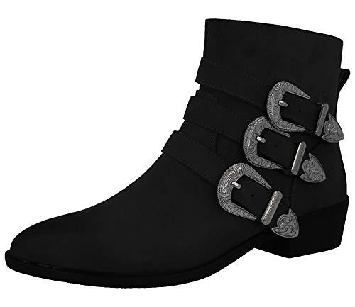 Stiefel Black Suede Kurzschaft Faux Damen Footwear Foster g6nCHH