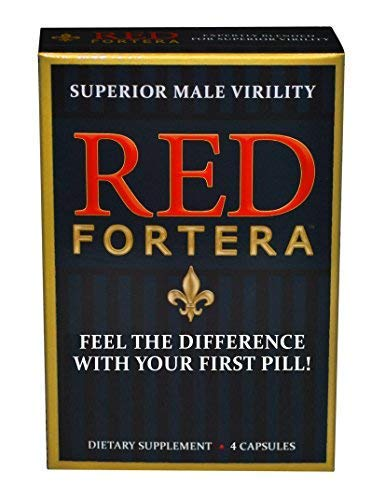 Clinically Tested Red Fortera Fast Acting Tribulus Energy Performance Booster | Increase Performance and Stamina On-Demand (4 Capsule Included) (Performance Male Pill Enhancement)