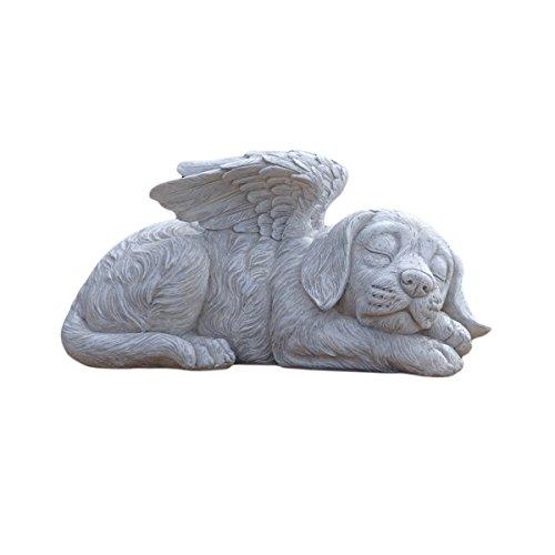 Design Toscano QL6079 Gedenkstein mit Engel Grabmal für Hunde Statue