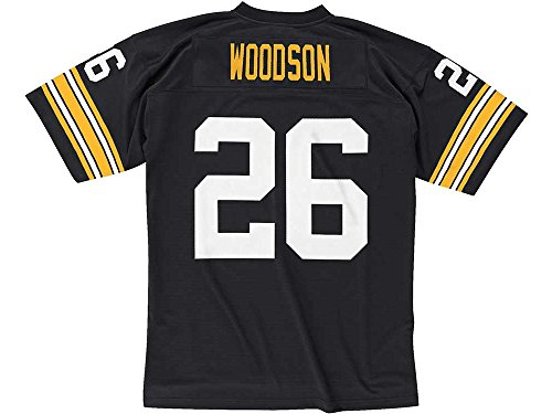 Pittsburgh Steelers Mitchell & Ness 1993 Rod Woodson #26 Replica Throwback Jersey - Mesh Steel Jersey Football