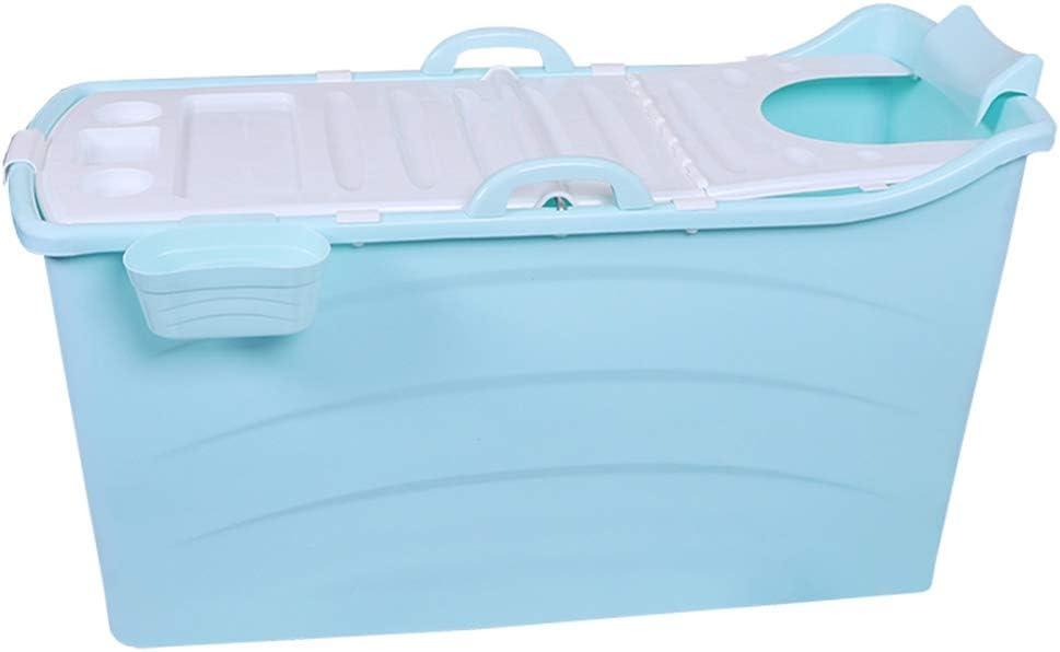 Port/átil Ba/ñera Independiente Adecuado para Ni/ños de 0 a 5 A/ños 123x52x68cm Color : Blue, Size : L LCAIHUA-Portable Ba/ñera Ba/ñera Beb/é Plegable