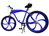 BBR Complete 26 Inch Motor-Ready Motorized Bicycle W/ 2.4L in-Frame Gas Tank (Blue)