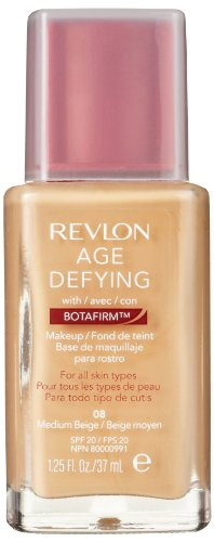 Revlon Age Defying Makeup with Botafirm, SPF 20, Normal/Combination Skin, Medium Beige 08, 1.25-Ounce