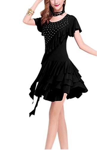 Black Dance Competition Costumes (Whitewed Line Dance Party Competition Outfits Costumes Dress Black Plus Size)