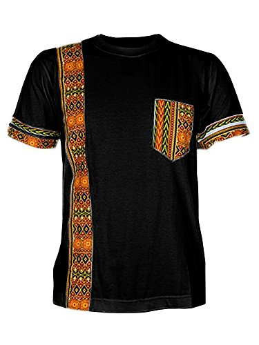 Makkrom Mens African Tribal Dashiki Floral Short Sleeve for sale  Delivered anywhere in USA