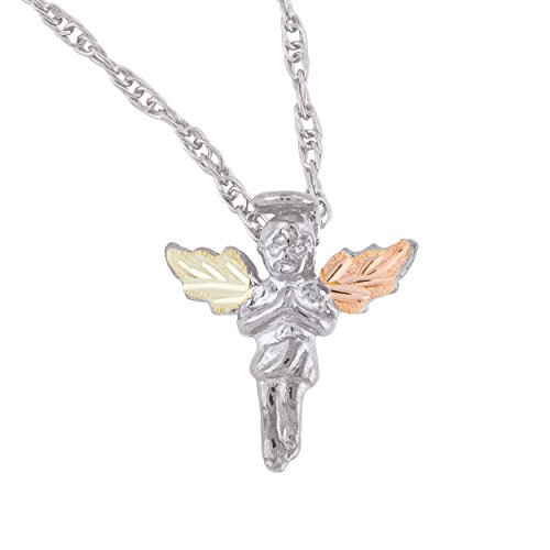 Black Hills Gold on Silver Angel Pendant ()