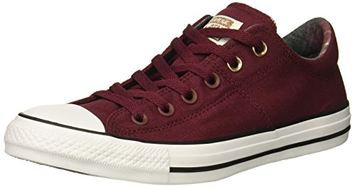 Converse Women's Chuck Taylor All Star Madison Low TOP Sneaker, Dark Burgundy/White/Black, 10 M - Slip Taylor All Chuck Star Ons