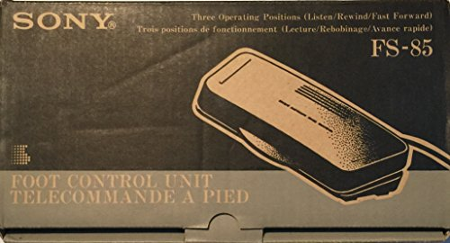 New Sony FS-85 Dictation Transcription Pedal W/Cable, Manual in Original Box