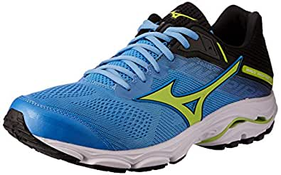 Mizuno Australia Men's Wave Inspire 15 Running Shoes, Azure Blue/Sharp Green/Black, 9 US