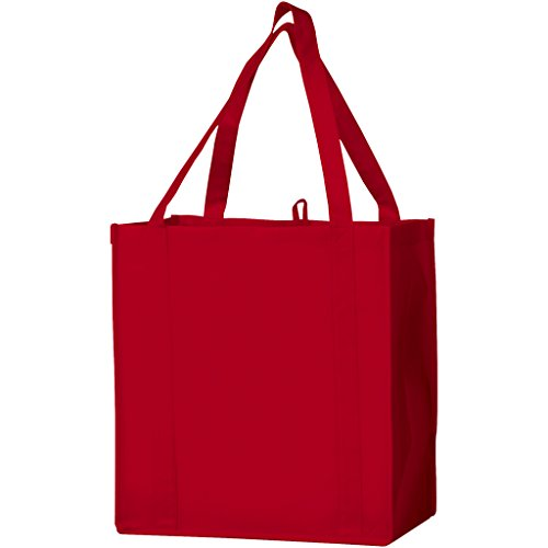 - Bullet The Non Woven Little Juno Grocery Tote (Pack of 2) (12 x 8 x 13 inches) (Red)