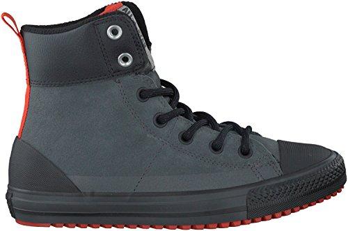 Converse Kid's Chuck Taylor All Star Asphalt Boot Fashion Sneaker Shoe - Thunder/Signal Red/Black - 6