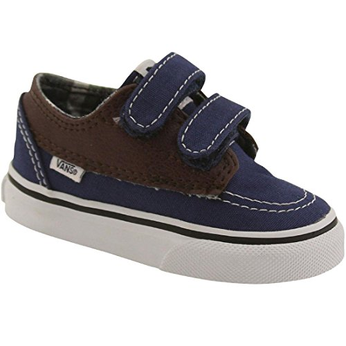 Vans Unisex Baby Brigata V Krabbelschuhe Blau (leather/plaid/estate Blue/potting Soil)