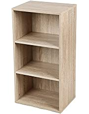 VASAGLE Boekenkast met 3 vakken, verstelbare planken, archiefkast voor woonkamer, kinderkamer en thuiskantoor