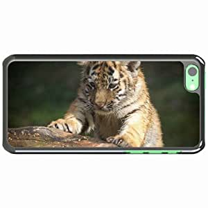 iPhone 5C Black Hardshell Case tiger muzzle eye predator climbing Desin Images Protector Back Cover